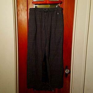 Polo ralph lauren gray pajama pants nice baggy